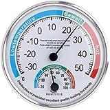 siwetg Termómetro analógico para el hogar, higrómetro y medidor de temperatura y humedad
