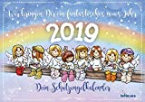 Schutzengel - Kalender 2019 - teNeues-Verlag - Broschurkalender mit niedlichen Engeln, süßen Sprüchen und Platz für Eintragungen - 42 cm x 29,7 cm (offen 42 cm x 59,4 cm)