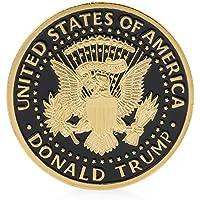 Sammlermünzen, COLORFUL Trump Design Gedenkmünze Goldmünzen Mix Pure Gold Black Coins