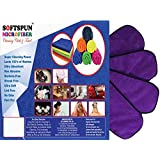 SOFTSPUN Microfiber 4 Layer Baby Diaper Inserts for Cloth Diaper, Pocket Diaper Set Of 4, Large, Age 4-30 Months, Purple