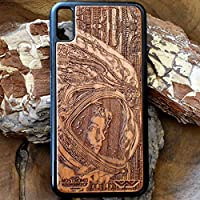 Ellen Ripley Wooden Phone Case for iPhone XR/XS Max/X / 8/7 / 6 / 6S Plus Case, Samsung Galaxy Note 9 / S9 / S10 - Artistic Design by Engravers Dungeon