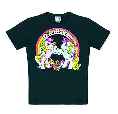 b1dbc1376 Logoshirt My Little Pony - Rainbow - Unicorns Kids - Childrens Short Sleeve  T-Shirt - Black - Licensed Original Design: Amazon.co.uk: Clothing