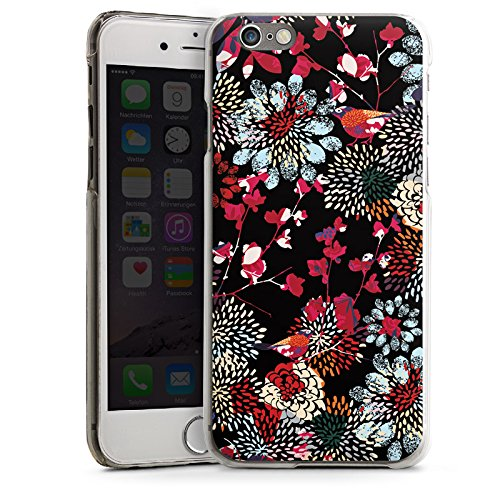 Apple iPhone 5s Housse étui coque protection Fleurs Fleurs Multicolore sombre CasDur transparent