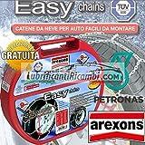 Arexons Petronas Catene da Neve auto 9 mm, Easy omologate TUV e GS Onorm - Misura 080