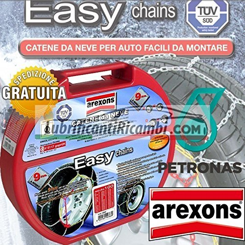 Arexons-Petronas-Catene-da-Neve-auto-9-mm-Easy-omologate-TUV-e-GS-Onorm-Misura-110