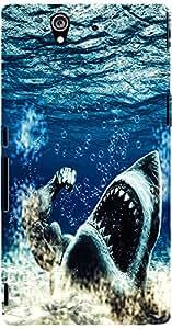 PRINTVISA Animal Shark Ocean Case Cover for Sony Xperia Z