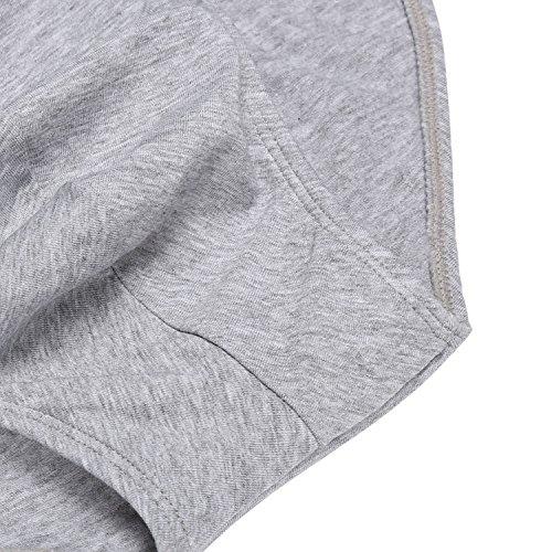 ADOME herren 100% baumwolle Unterwäsche hose slips 3er pack pants Weiß/Schwarz/Grau