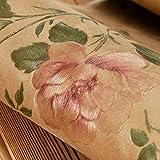LXPAGTZ Goldener Garten Blumen Tapeten-Stil Schlafzimmer/Wohnzimmer funktioniert PVC Tapeten gold Vintage American Bekleidungsgeschäft 9.5 m * Breite 0,53 m (5 m ²) , 8170507 peony