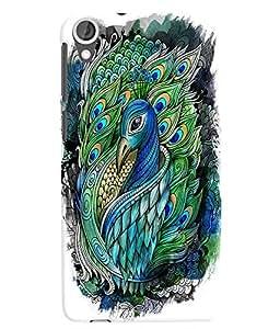 Citydreamz Peacock\Jungle Hard Polycarbonate Designer Back Case Cover For HTC Desire 828