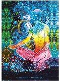 Siete Chakra Yoga Meditación pared Alfombra Ombre Estilo Zen étnicas Meditación Mandara–Esterilla de yoga boho hippie playa lanzar pared colgar manta de pícnic Camino de mesa 51*59in multicolor