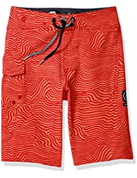 Volcom Joven Bañador Niños Magnetic Stone Pantalón Corto Bañador Surfs hort Rojo, niño, Kinder Magnetic Stone Boardshort Badehose Surfshort Rot, beige, 26