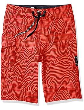 Volcom Jungen Badehose Kinder Magnetic Stone Boardshort Badehose Surfshort Rot