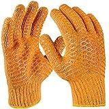 PRO FIT 12 Paar - Criss-Cross Grobstrickhandschuh, orange, beidseitige Waffelmusterbeschichtung 11