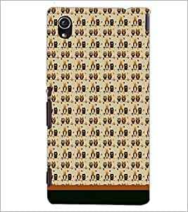 PrintDhaba Owl Pattern D-1703 Back Case Cover for SONY XPERIA M4 AQUA (Multi-Coloured)