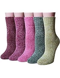 Chalier Calcetines para mujeres Calcetines casuales y calcetines para hombres en cálido invierno y cómodo 5