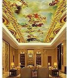 Wapel Engel Deckengemälde 3D Tapete Moderne Für Wohnzimmer Wandbilder Home Dekoration 3D Tapete Wandbild Decke Seidenstoff 200x140CM