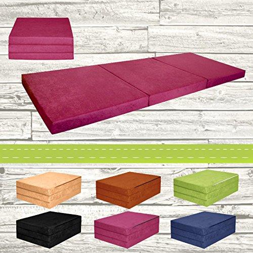Materasso-pieghevole-per-ospiti-letto-per-letto-Ospite-futon-Pouf-195-x-80-x-9-cm-colore-viola
