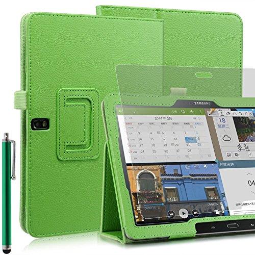 Preisvergleich Produktbild Invero® Premium Hülle Ledertasche umfasst Ständer Feature, Displayschutzfolie und Eingabestift Kugelschreiber für Samsung Galaxy Note Pro 12,2 Zoll SM-P900 SM-P905 (Grün / Green)