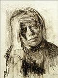 POSTERLOUNGE Forex-Print 30 x 40 cm: Käthe Kollwitz with hand on forehead by Käthe Kollwitz/akg-images