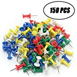#5: SAISAN , Push Pins, Thumb Pins, ( 150 Pcs ) Multicolor
