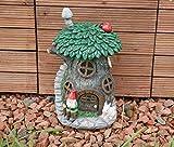 Garden Mile® Colourful Garden Gnome Light Up Toadstool Fairy House Solar Light Up At Dusk Fairy Garden Tree House Solar Lighting Decorative Garden Gnome Ornament Garden Solar Lights