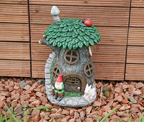 Garden Mile® Colourful Garden Gnome Light Up Toadstool Fairy House Solar  Light Up At Dusk Fairy Garden Tree House Solar Lighting Decorative Garden  Gnome ...