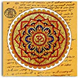 Tamatina Canvas Paintings - Om Shanti Shanti - Ancient Scripts - God Paintings - Modern Art Paintings - Paintings For Home Décor - Paintings For Bedroom - Paintings For Living Room - Religious Canvas Paintings - Hindu Paintings For Wall