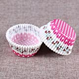 Generic New 5 styles 100 pcs cupcake liner baking cup cupcake paper muffin cases Cake box Cup egg tarts tray cake mold decorating tools color04
