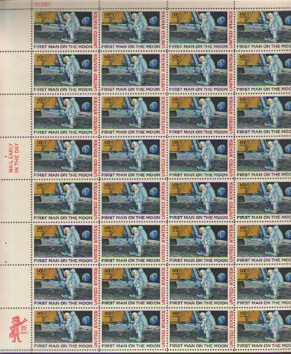 first-man-on-the-moon-stamp-mnh-sheet-32-x-10-cent-air-mail-scott-c76-by-usps