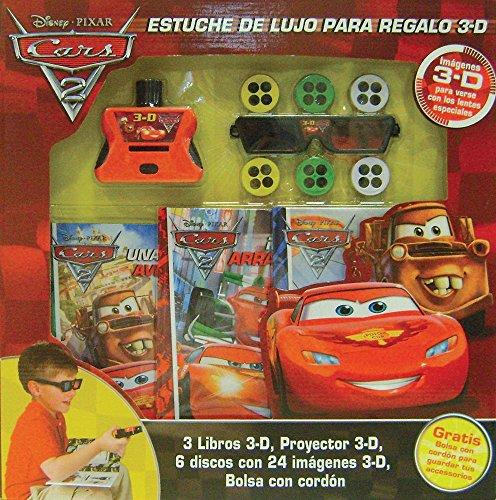 Cars 2 Estuche de lujo para regalo 3-D / 3-D Deluxe Book Gift Set por Disney Pixar
