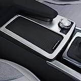 DIYUCAR Osłona na konsolę środkową z uchwytem na napoje, tworzywo sztuczne ABS, listwa ozdobna do samochodu, matowa, srebrna