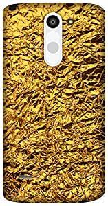 The Racoon Lean shiny foil gold hard plastic printed back case / cover for LG G3 Stylus