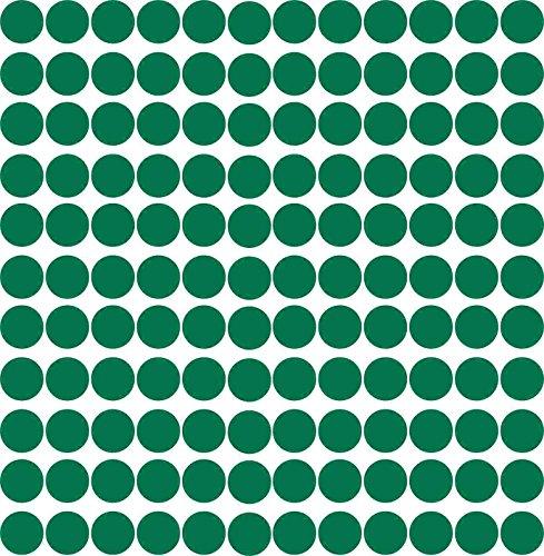 Kleberio® 98 Klebepunkte 30mm aus PVC-Spezialfolie von ORAFOL selbstklebend glänzend Farbe: grün Markierungspunkte Außenbereich (Kreis Der Grün)