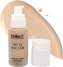 INSIGHT LIQUID FOUNDATION LUMINOUS FINISH, SPF 15, Rosy Glow, 40 ml By Futureindia