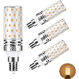 Aogled Lampadine LED E14 12W 3000K,Equivalente 100W Lampada Alogena,Bianco Caldo,1200LM,Angolo 360,Lampadina Edison,Non…