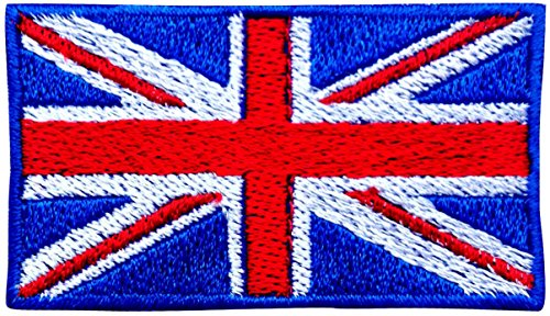 UK Flag Embroidered Iron / Sew On Union Jack Patch United Kingdom Badge Transfer