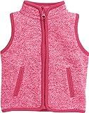 Schnizler Strickfleece-Weste Mit Kontrastnähten, Oeko-Tex Standard 100, Chaleco Bebé-Niños, Rosa (Pink 18), 74