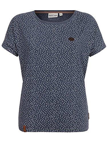 Damen T-Shirt Naketano Detroit House V T-Shirt indigo blue melange