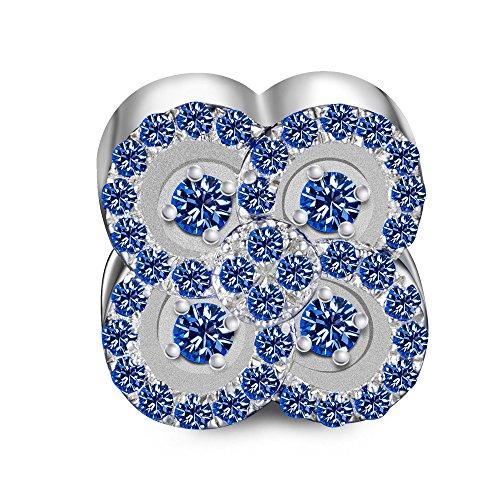 Ninaqueen fiore ciondolo da donna argento sterling 925 per pandora charms bracciale regalo compleanno natale san valentino festa della mamma regali anniversario per moglie madre sposa
