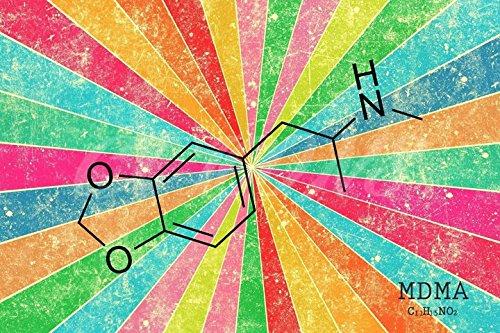 MDMA Molécula Art–Póster de la Impresión de fotos, 12x 8pulgadas (A4)–Calidad superior
