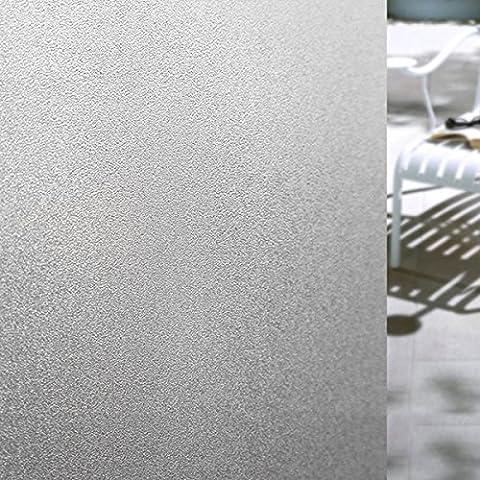 Autocollant de Fenêtre Film Electrostatique pour Vitre, Coolzon® Amovible Adhésif Verre Matte Opaque Dépoli Décoratifs Papier Protége Intimité 17.7