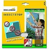 Schellenberg 50720 - Mosquitera, protección anti insectos y moscas reflectante (130 x 150 cm) color antracita