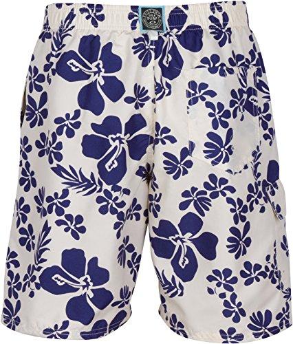 Sakkas Keona Hibiscus Patch Pocket Swim Trunk / Boardshort Naturfarben
