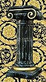 Medusa Säule Mäander Style Dekosäule Marmoriert 100cm Griechische Säulen Barock Podest Modern Styl 1012 K-128 Kunstharz ( ALLWETTER FEST ) (K-128)