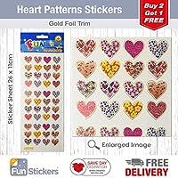 Fun Stickers Heart Patterns 606