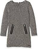 GUESS Mädchen Kleid LS Dress-J64K6000CM1 Mehrfarbig (F995 Fst Black White), L (Herstellergröße: L)
