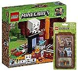 LEGO Minecraft 21143–Neth Portal + LEGO minecrafttm Mini Figure Set di 2
