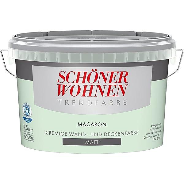 Schoner Wohnen Farbe Wand Und Deckenfarbe Trendfarbe Macaron Matt 2 5 L 2 L Macaron Amazon De Baumarkt