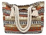 malirona Großer Strand Leinwand Reise Tasche–Perfekt Tasche für Urlaub Indian Style