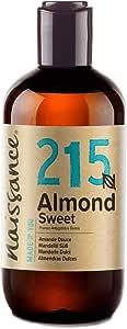 Naissance Sweet Almond Oil (no. 215) 250ml - Pure, Natural, Cruelty Free, Vegan, No GMO